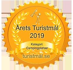 Sigil för årets turistmål 2019 i kategori Campingplatser.